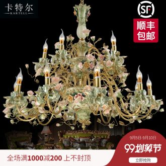 French chandelier european-style luxury living room full copper ceramic pendant bedroom villa garden restaurant creative lamps and lanterns