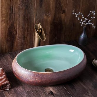 The stage basin of jingdezhen ceramic lavabo oval art hotel toilet lavatory Chinese style restoring ancient ways is individuality