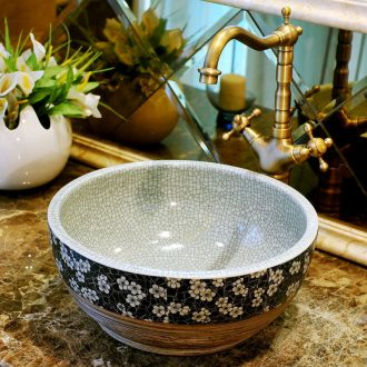 Package mail American pastoral jingdezhen 35 small basin lavatory sink the stage basin & ndash; Broken blue and white