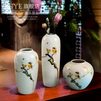 Jingdezhen ceramic vase furnishing articles sitting room porch hand-painted vases contracted household adornment style floor vase
