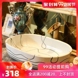 Jingdezhen rain spring on the ceramic art wash tub balcony outdoor lavatory toilet lavabo