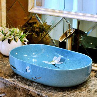 Ceramic art stage basin square basin European toilet lavabo, oval lavatory basin