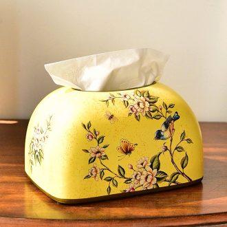 Murphy American country ceramic household smoke box European sitting room dining-room decorates paper napkin tissue box box