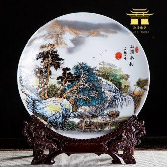 Jingdezhen ceramics 10 inch mountain stream ChunYun decorative hanging dish sat dish home rich ancient frame office crafts