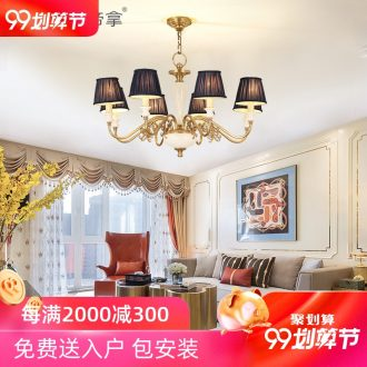 American country full copper ceramic droplight sitting room luxury restaurant atmosphere contracted and contemporary bedroom lamp villa lamps and lanterns