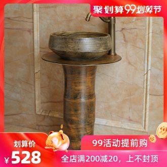Rain spring basin balcony art pillar lavabo floor toilet ceramics pillar European contracted restoring ancient ways