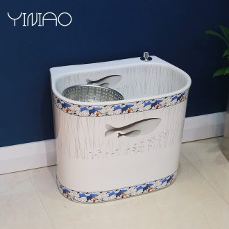 Hundred million home bird bath mop pool control washing mop pool ceramic basin balcony with toilet bibcock mop pool