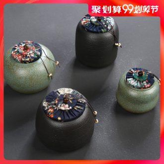 Hong bo acura Japanese household sealing ceramic tea pot store receives tea storage tanks tea packaging small POTS
