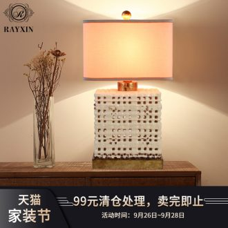 American ceramic desk lamp lamp of bedroom the head of a bed contracted and contemporary creative adjustable light retro fashion example room sitting room lights