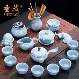 St to hide your kiln ceramic kung fu tea set household contracted the whole teapot tea tea tea cups