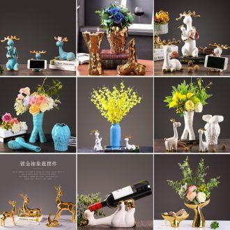 Originality of deer furnishing articles European sitting room of TV ark wine porch ceramic decoration wedding wedding housewarming gift