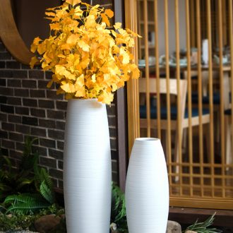 European style of large white jingdezhen ceramic vases, contemporary and contracted sitting room adornment dry flower art flower arranging furnishing articles