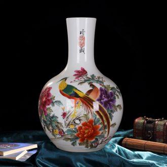 Jingdezhen ceramics powder enamel kam tong prosperous celestial vase hand-painted vases sitting room home handicraft furnishing articles