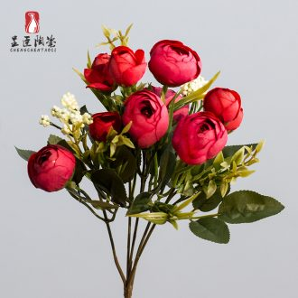 The minister ceramic the tea buds flowers artificial flowers simulation flowers decoration wedding bouquet put table in the sitting room adornment