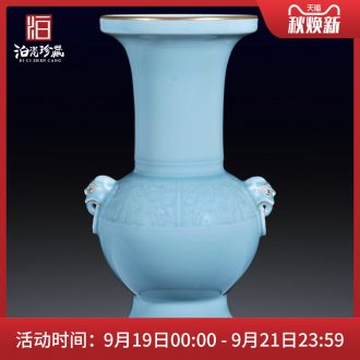 Jingdezhen ceramics imitation qing qianlong color glaze flower vase sitting room porch decorate new Chinese style household furnishing articles