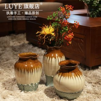 Vase furnishing articles furnishing articles sitting room ceramic ceramic Chinese flower arranging bottles of decorative ceramic simulation ice porcelain vase ikea