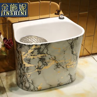 Gold cellnique double without driver wash mop pool basin ceramic household large floor balcony toilet water tank