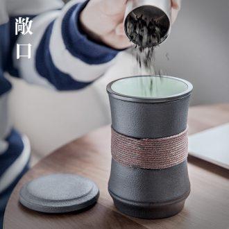 Ceramic tea cup with lid and hall office tea mugs filter custom cups of tea cups