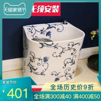Gold cellnique european-style mop pool bathroom floor balcony household washing trough mop mop pool ceramic basin