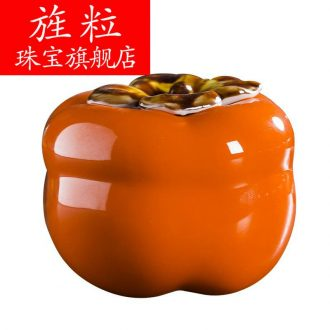 Jingdezhen ceramic simulation q7 little persimmon furnishing articles all the best home sitting room adornment wedding creative decorations