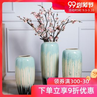 Jingdezhen ceramic large hotel floor vase the sitting room porch to heavy household adornment is placed high blue vase