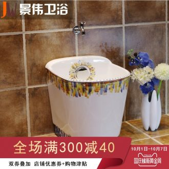 Fashion to wash the mop pool balcony art mop pool mop basin bathroom large ceramic mop pool