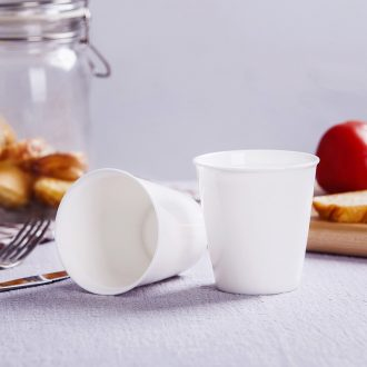Jingdezhen pure white bone porcelain hotel restaurant cup cup with a cup of milk for breakfast cup creative paper cups