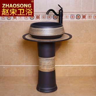 Europe type restoring ancient ways of song dynasty porcelain basin of the post composite basin of Chinese style toilet lavabo sink outdoor balcony