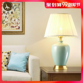 American living room lamp full copper ceramic lamps and lanterns is contracted and contemporary household atmosphere european-style decorative lamp of bedroom the head of a bed