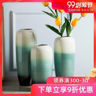 Jingdezhen ceramic big vase high vase contracted modern flower arrangement large landing place the sitting room porch vase