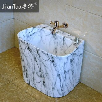 Mop pool ceramic mop sink marble balcony mop pool with large mop bucket bath to drag POTS outside