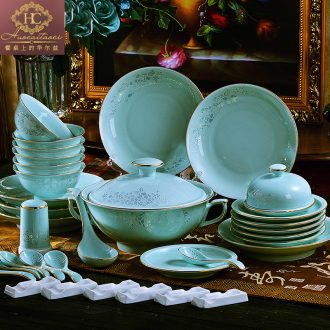 The dishes suit household of Chinese style is contracted jingdezhen ceramic celadon dishes chopsticks tableware portfolio Nordic style