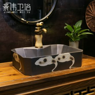 Basin of Chinese style restoring ancient ways is the stage art basin inferior smooth Fred xiangyun lavabo stage basin bathroom ceramic wash basin