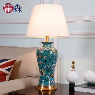 Luxurious American ceramic desk lamp manual anaglyph ceramic lamps and lanterns of Europe type restoring ancient ways the sitting room is big desk lamp of bedroom the head of a bed