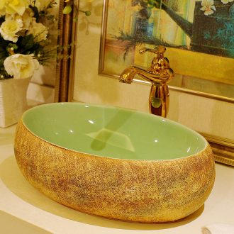 European ceramic art stage basin elliptic toilet lavabo basin Europe type restoring ancient ways lavatory hand basin