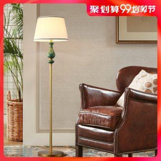 American country full copper ceramic floor lamp decoration simple modern villa berth lamp warm home sitting room study