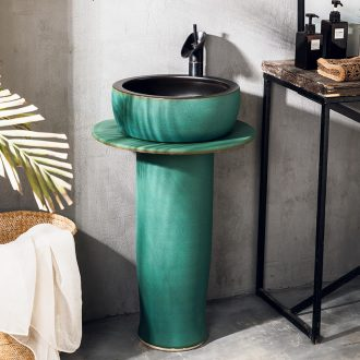 Basin courtyard industrial pillar lavabo outdoor pool bar wind restoring ancient ways is simple vertical lavatory ceramic fall to the ground
