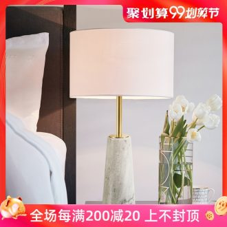 Nordic light bedroom luxury wind lamp postmodern contracted sitting room european-style originality hotel ceramic marble bedside lamp