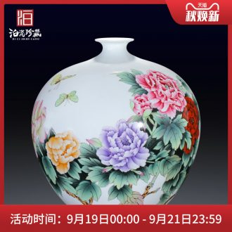 Jingdezhen ceramic master hand painted porcelain vase furnishing articles rich ancient frame sitting room adornment new Chinese style wedding decoration process