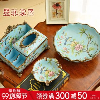 Murphy American country ceramic large fruit bowl European sitting room tea table soft adornment furnishing articles snack plate dry fruit tray