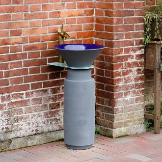 Ceramic pillar lavabo balcony floor type of household toilet integrated art basin washing a face basin of outdoor column