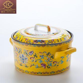 Fire color jingdezhen ceramics high-grade enamel colour flame soup pot simmering gas flame high temperature resistant soup pot