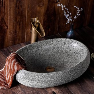 Sink basin of jingdezhen ceramics on the oval art Chinese style restoring ancient ways is contracted hotel toilet wash basin