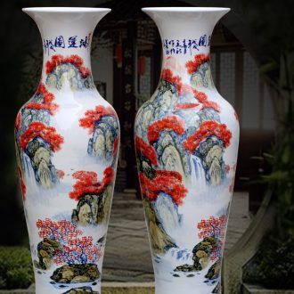 Jingdezhen ceramic figure landscape hand-painted bonanza of large vases, sitting room of Chinese style household furnishing articles for the opening gifts