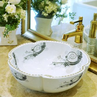 Package mail petals jingdezhen art basin modelling lavatory washbasins stage basin & ndash; Fashion leaves