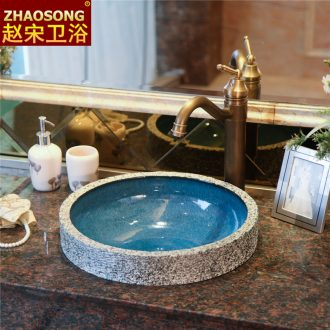 Zhao song in the European Mediterranean archaize circular taichung basin on the ceramic art basin undercounter basin of wash one
