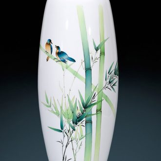 Jingdezhen ceramics furnishing articles hand-painted bamboo vases, flower arrangement of the sitting room porch decoration of new Chinese style household ornaments