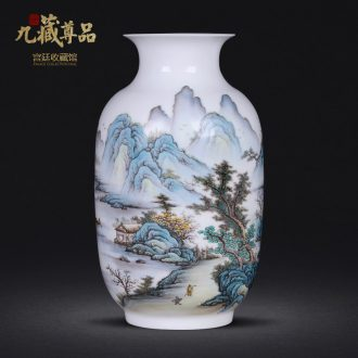 Master of jingdezhen ceramics new Chinese style hand-painted vases furnishing articles sitting room home wine ark adornment handicraft arranging flowers