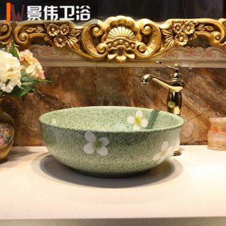 JingWei ceramic stage basin round Chinese lavatory washbasins 35 cm small basin basin art basin