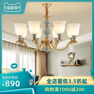 All copper pendant rural contracted sitting room lamps and lanterns creative villa luxury bedroom atmosphere restaurant ceramic chandeliers